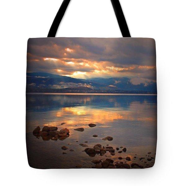 Morning Light On The Lake Tote Bag