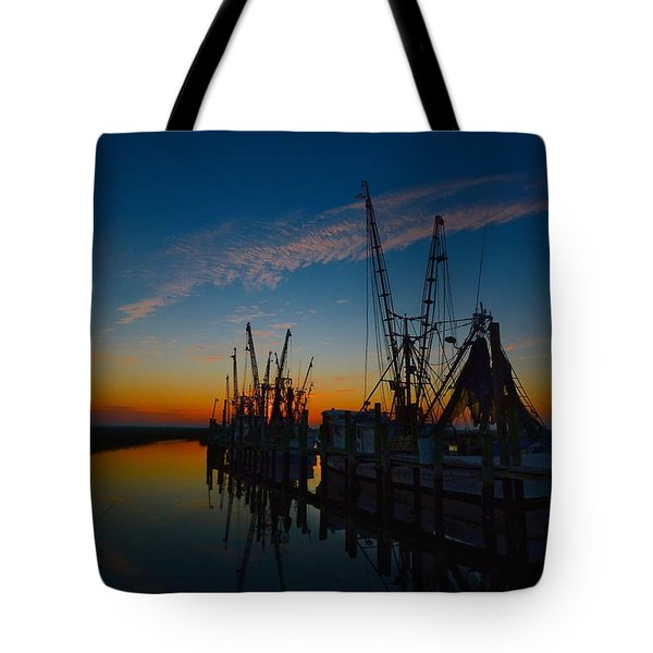 Morning Line Up Tote Bag
