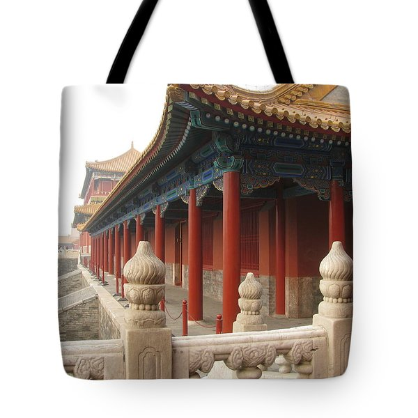 Morning Mist In Forbidden City Tote Bag