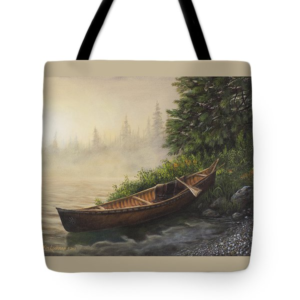 Tote Bag featuring the painting Morning Mist by Kim Lockman