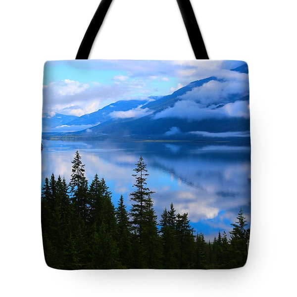 Morning Mist Rising Tote Bag