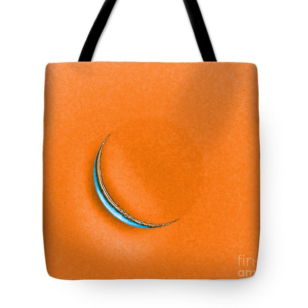 Morning Moon Orange Tote Bag by Al Powell Photography USA