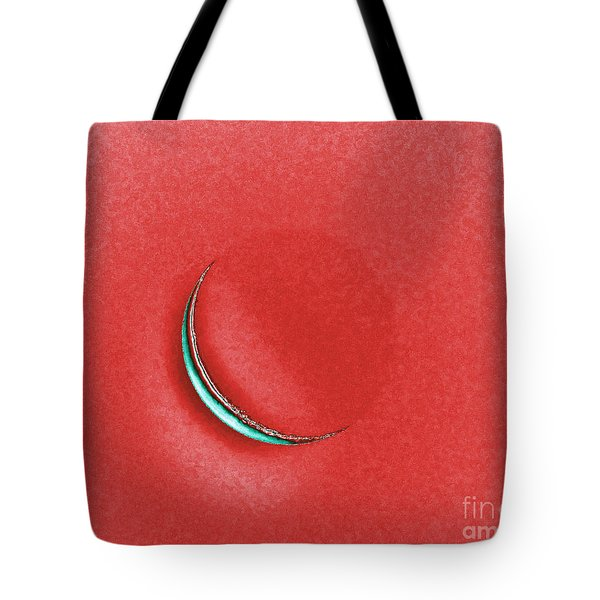 Morning Moon Red Tote Bag by Al Powell Photography USA