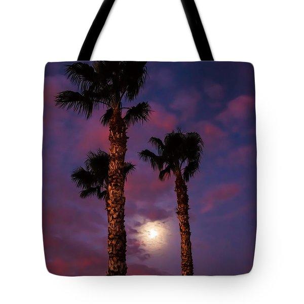 Morning Moon Tote Bag by Robert Bales