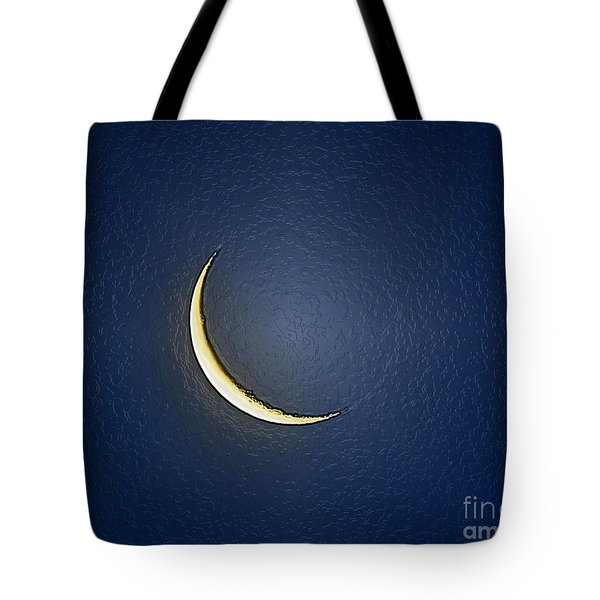 Morning Moon Textured Tote Bag by Al Powell Photography USA