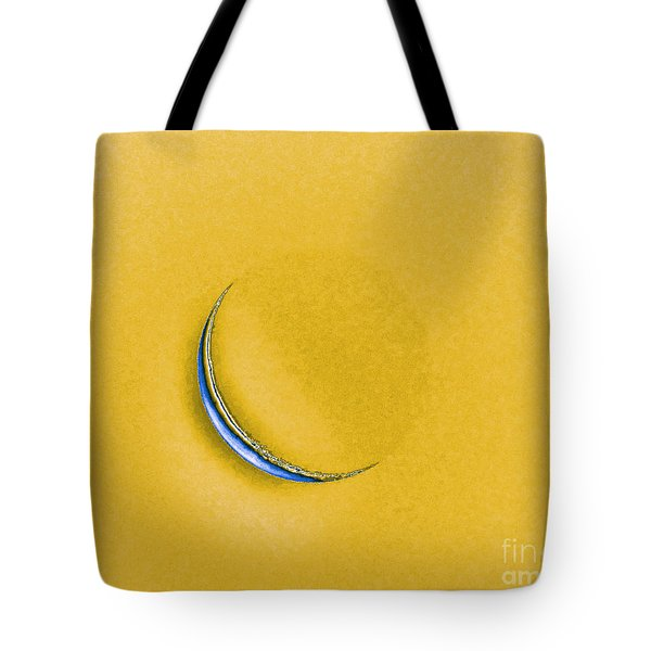 Morning Moon Yellow Tote Bag by Al Powell Photography USA