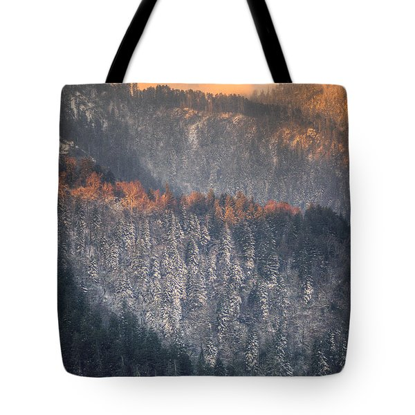 Tote Bag featuring the photograph Morning Mountains II by Rebecca Hiatt