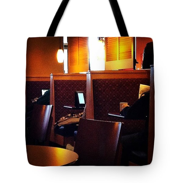 Morning News - Square Tote Bag
