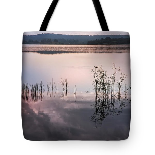 Morning Nocturne. Ladoga Lake. Northern Russia  Tote Bag by Jenny Rainbow