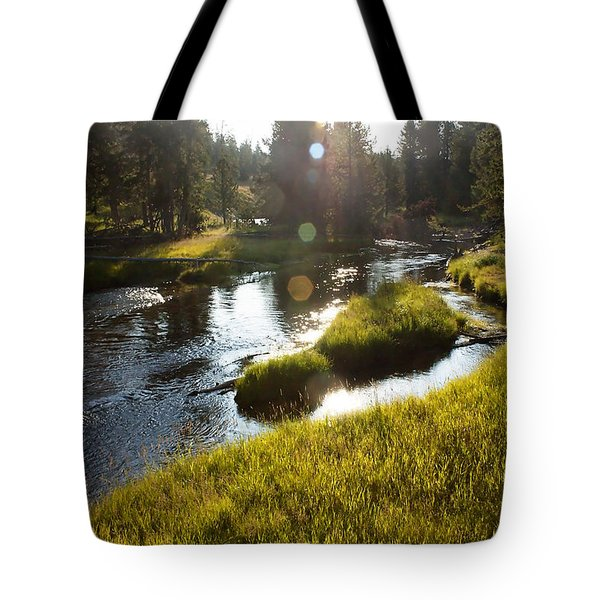 Morning On The Firehole Tote Bag
