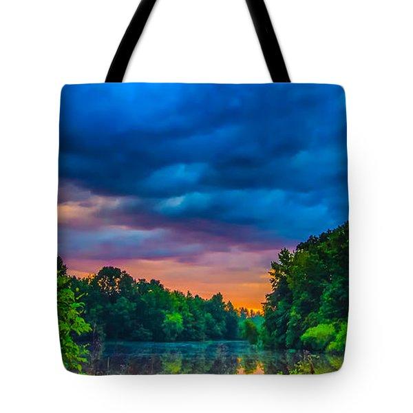 Morning On The Lake Tote Bag