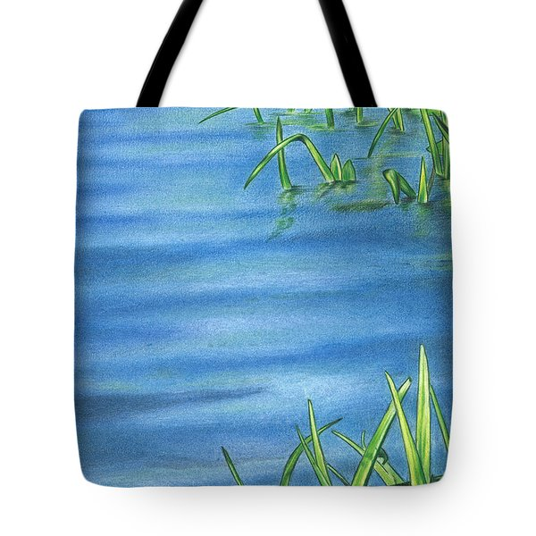 Morning On The Pond Tote Bag by Troy Levesque