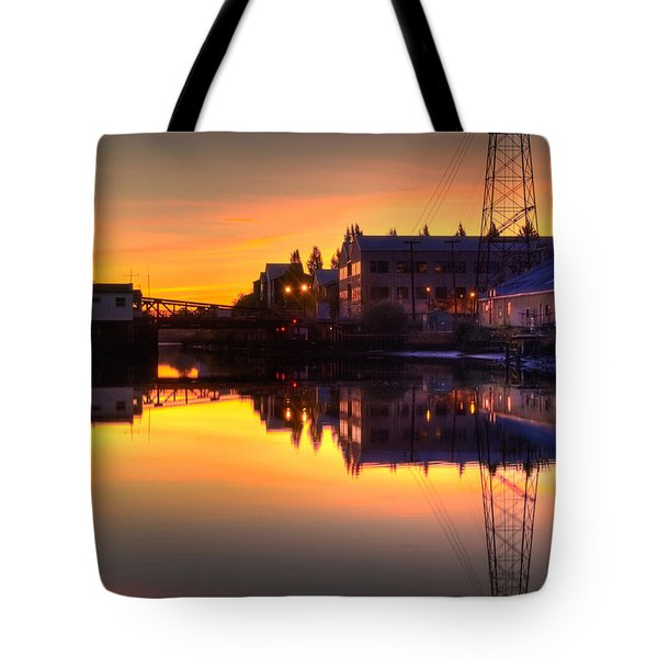 Morning On The River Tote Bag by Bill Gallagher