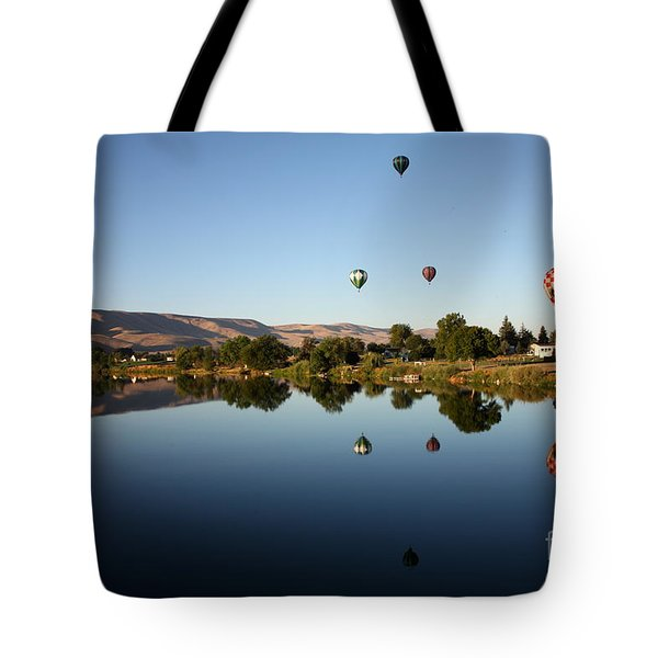 Morning On The Yakima River Tote Bag by Carol Groenen