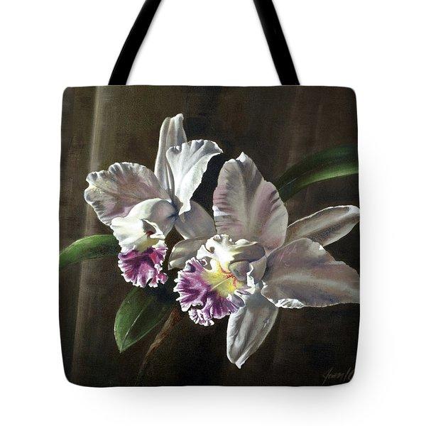 Morning Cattelya Tote Bag