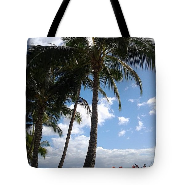 Morning Palms Tote Bag by Fred Wilson