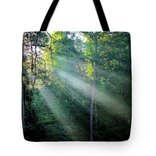 Tote Bag featuring the photograph Morning Rays by Greg Simmons