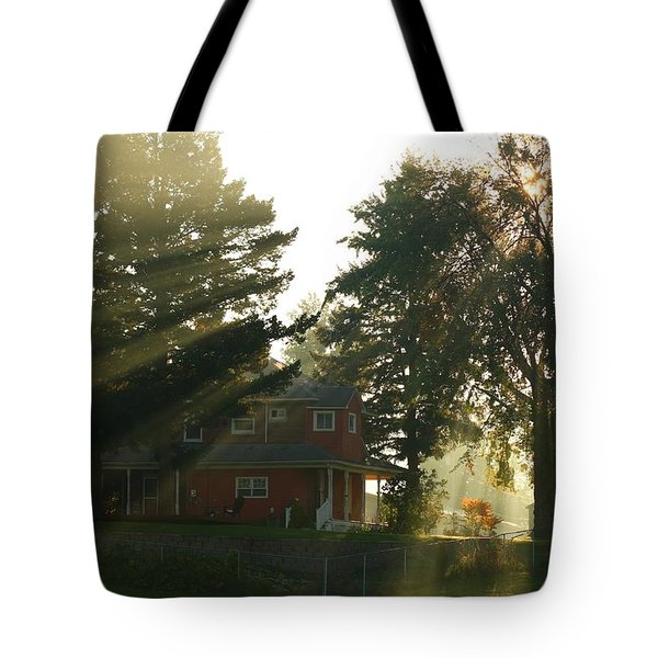 Tote Bag featuring the photograph Morning Rays by Lynn Hopwood