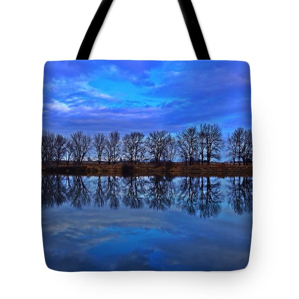 Blue Morning Reflection Tote Bag