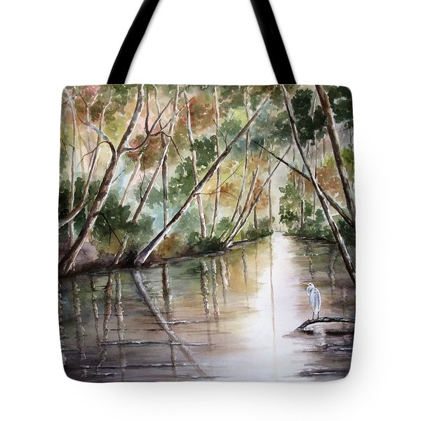 Morning Reflections Tote Bag by Mary McCullah