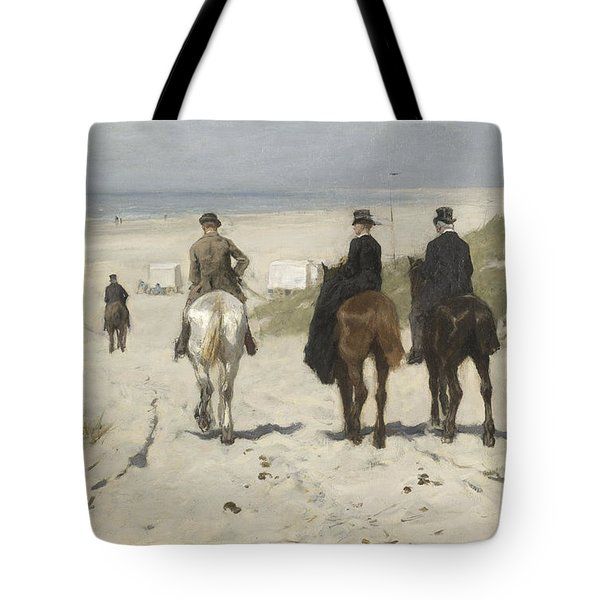 Morning Ride Along The Beach Tote Bag