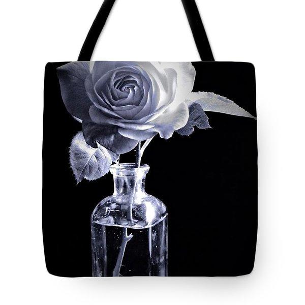 Morning Rose Cyan Tote Bag