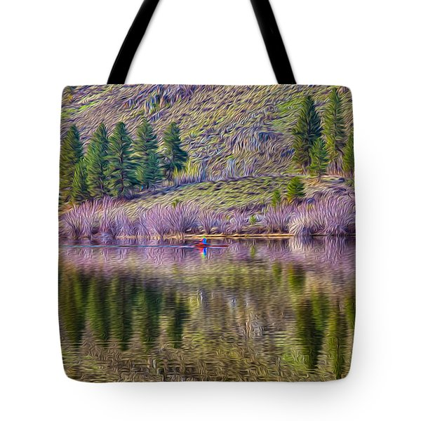 Morning Rowing Tote Bag by Omaste Witkowski