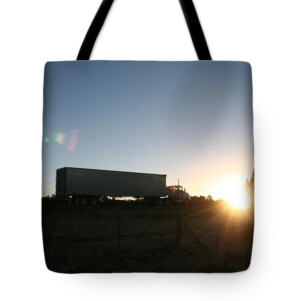 Tote Bag featuring the photograph Morning Run by David S Reynolds