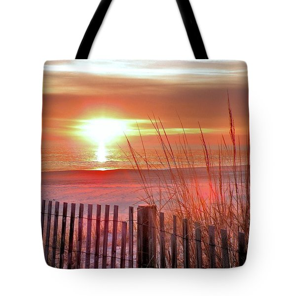 Morning Sandfire Tote Bag by Kim Bemis