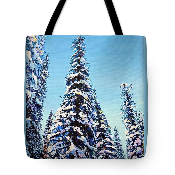 Morning Snow Tote Bag