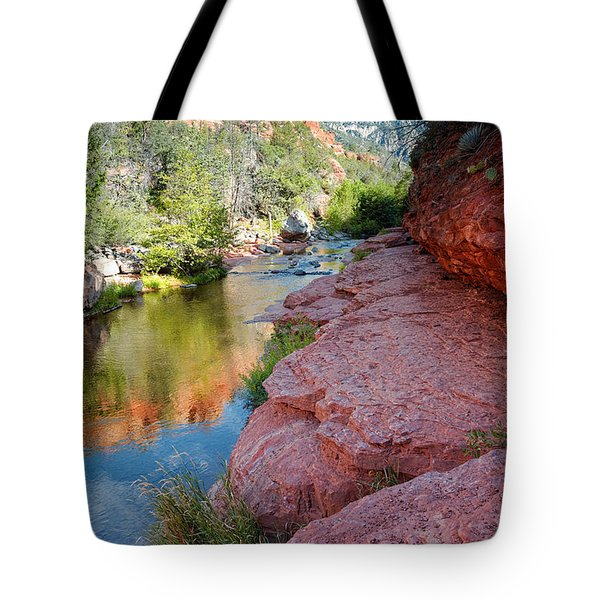 Morning Sun On Oak Creek - Slide Rock State Park Sedona Arizona Tote Bag