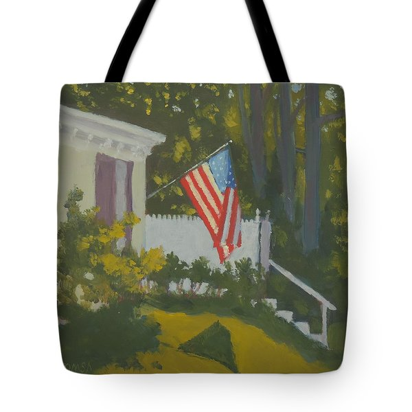 Morning Sun On Old Glory - Art By Bill Tomsa Tote Bag