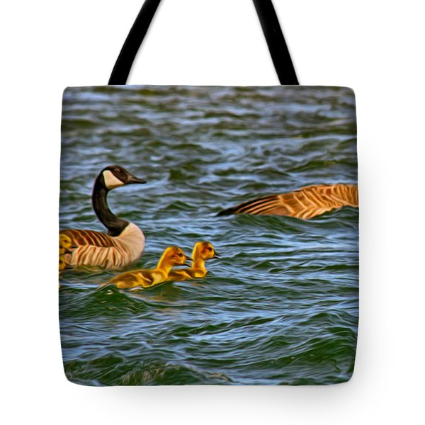 Morning Swim Tote Bag by Omaste Witkowski