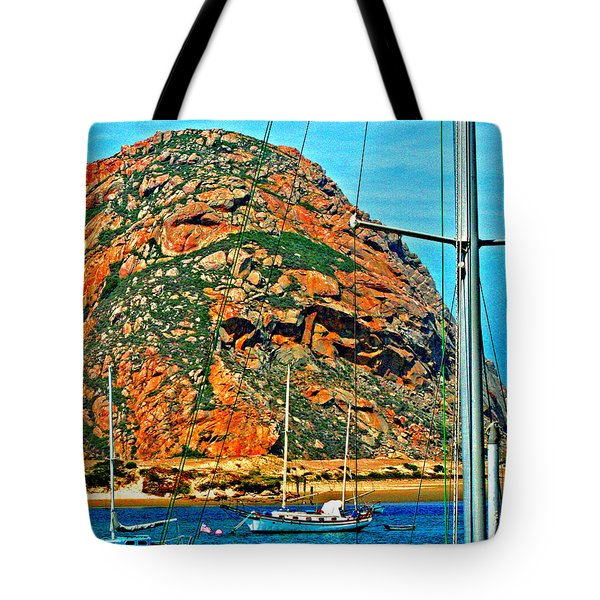 Moro Bay Sailing Boats Tote Bag