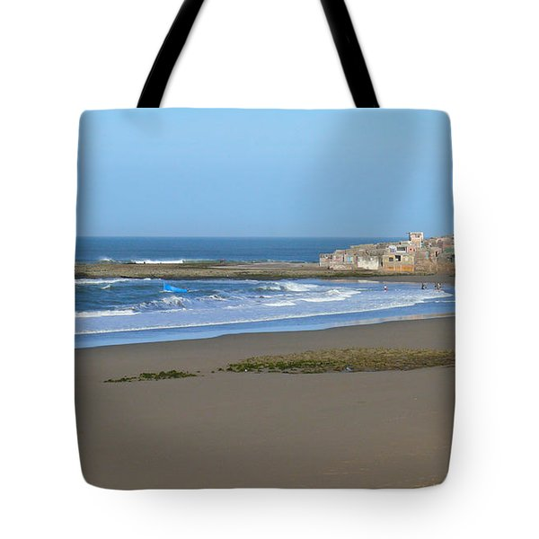 Moroccan Fishing Village Tote Bag