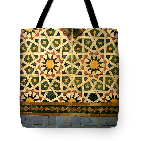 Moroccan Water Fountain Tote Bag by Ralph A  Ledergerber-Photography