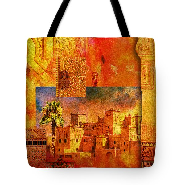 Morocco Heritage Poster 00 Tote Bag by Catf
