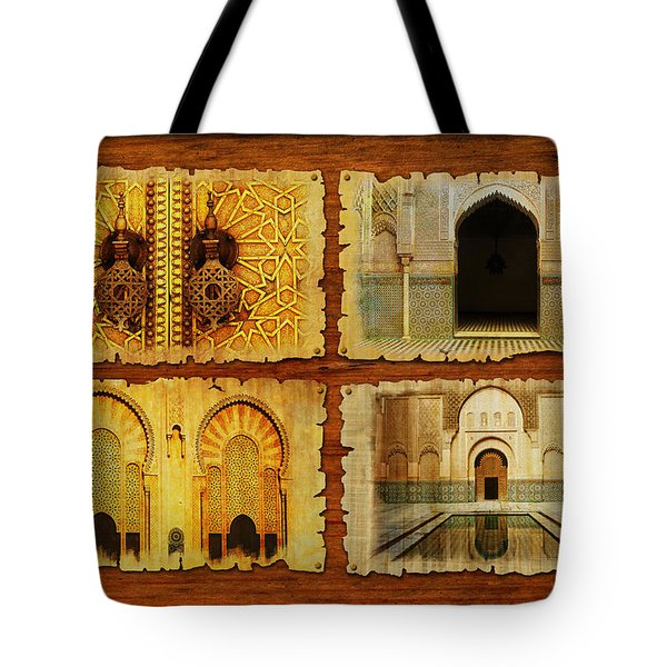 Morocco Heritage Poster 01 Tote Bag by Catf
