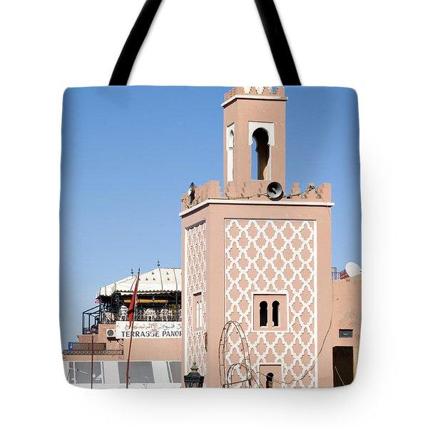 Morocco Mosque Tote Bag