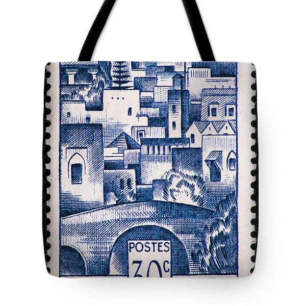 Morocco Vintage Postage Stamp Tote Bag