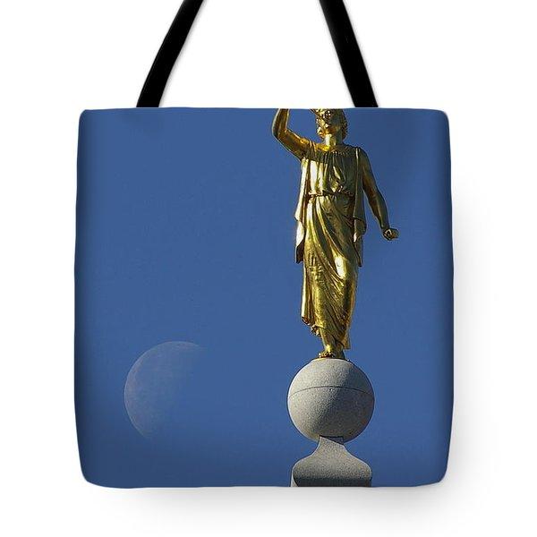 Moroni And The Moon Tote Bag by David Andersen