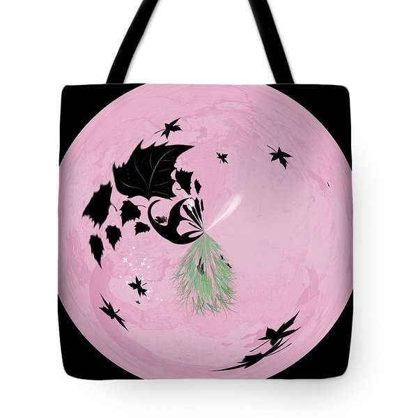 Morphed Art Globe 10 Tote Bag by Rhonda Barrett