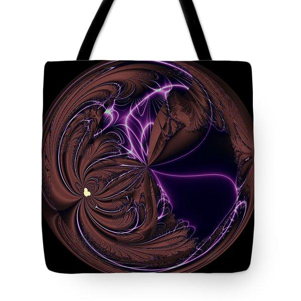 Morphed Art Globe 39 Tote Bag by Rhonda Barrett
