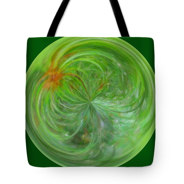 Morphed Art Globe 5 Tote Bag by Rhonda Barrett