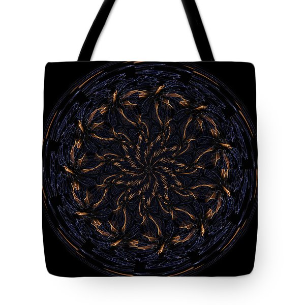 Morphed Art Globes 14 Tote Bag by Rhonda Barrett