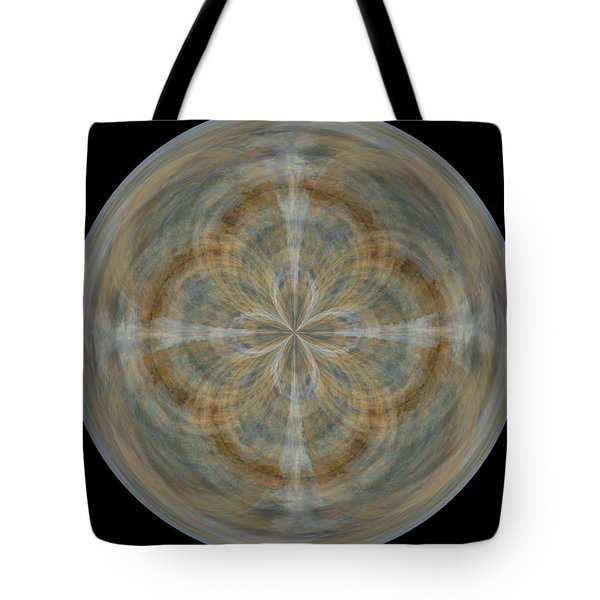 Morphed Art Globes 25 Tote Bag by Rhonda Barrett