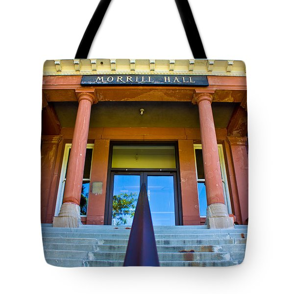 Morrill Hall On Michigan State Campus  Tote Bag by John McGraw