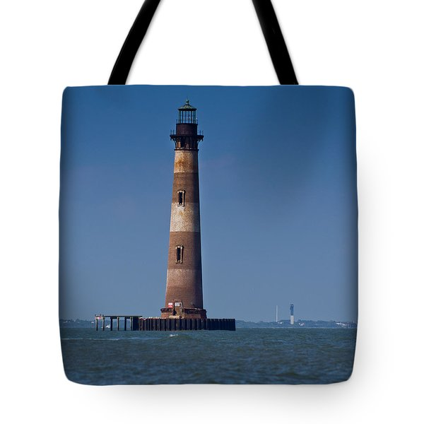 Morris Island Light With Sullivan's Tote Bag