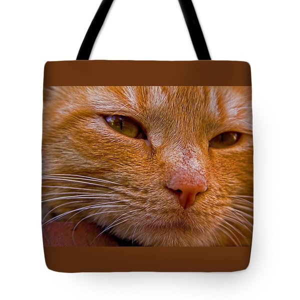 Morris Up Close Tote Bag by Andy Lawless