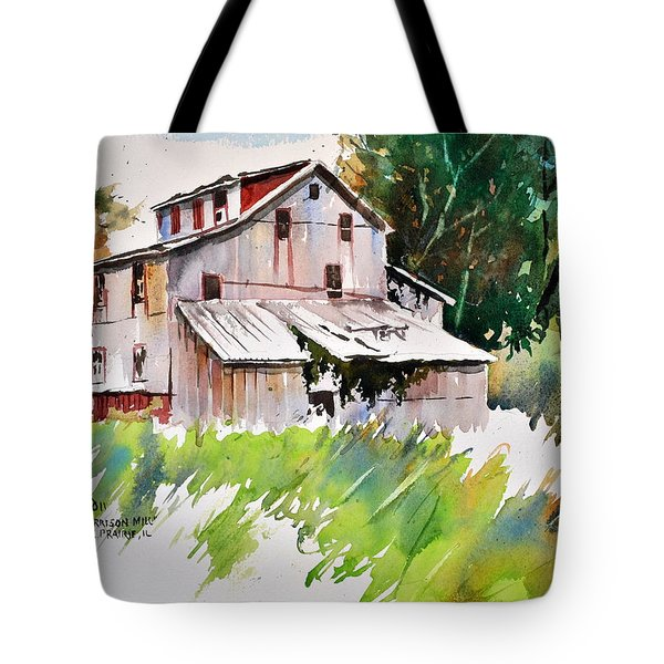 Morrison Mill Burnt Prairie Illinois Tote Bag by Spencer Meagher